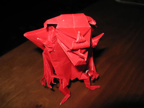 Origami Devil By Fabio The Artist
