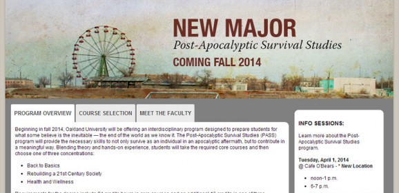 April Fool's Day 2014 – University Edition